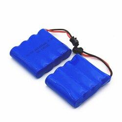 2 PCS High Capacity 4.8V 1400mAh Ni CD Battery Pack Rechargeable RC Ni-Cd SM 2Pin Plug AA Battery Toy Car