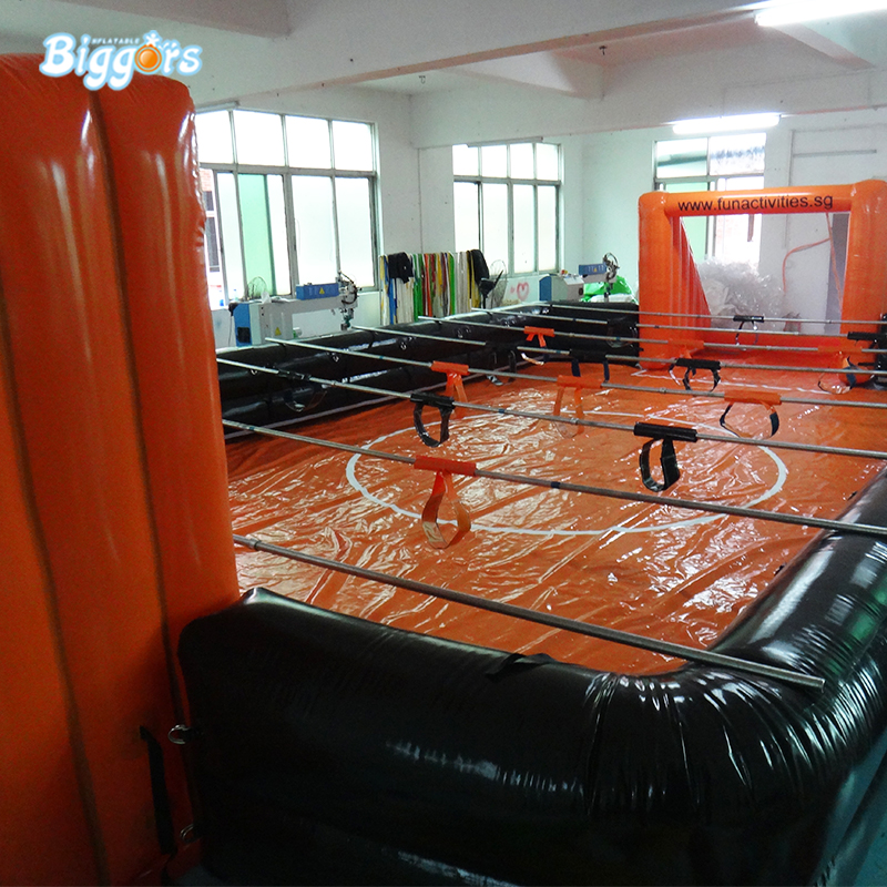 PVC Material Inflatable Human Table Football Inflatable Table Soccer With Air Blower For Game