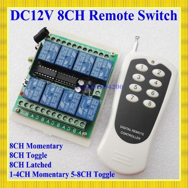 12v 8 ch channel rf wireless remote control switch remote control rh aliexpress com Long Range Remote Control Switch Remote Control On Off Switch