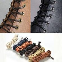 eec0240ddb1 1 par 8 colores 75-85 cm moda casual Cordón de cuero multi color algodón  encerado zapato redondo