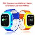 WI-FI Позиции Smart Watch Дети Sos-вызов Q90 Сенсорный Экран GPS расположение Finder Трекер Малыш Сейф Анти Потерянный Монитор пк Q50 Q80