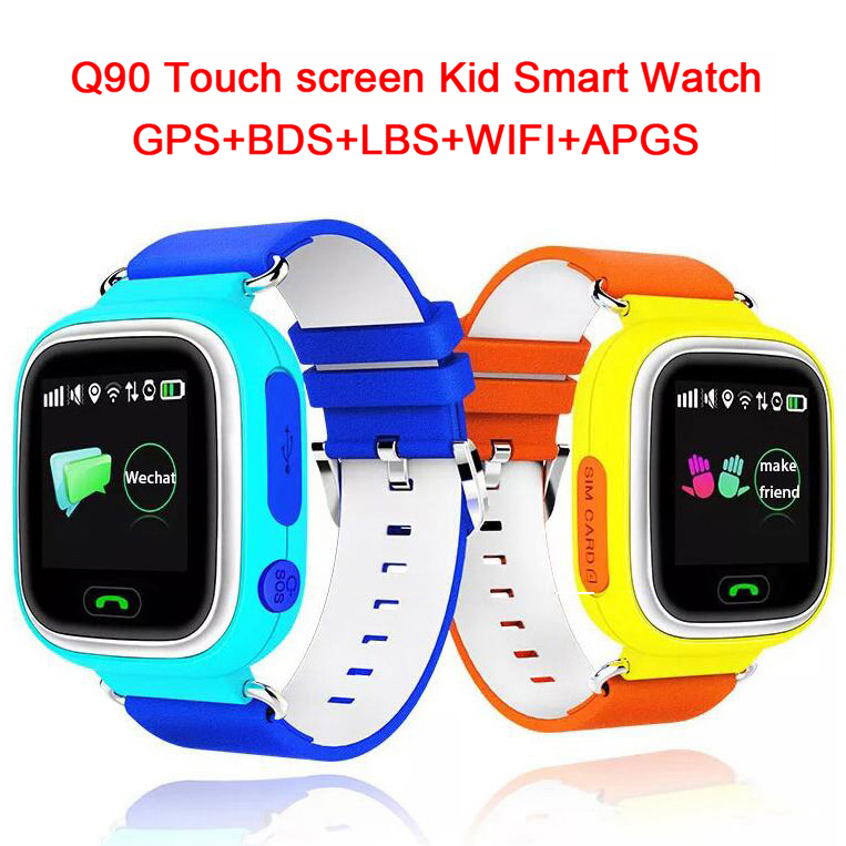 где купить  WIFI Position Smart Watch Children SOS Call Q90 GPS Touch Screen  Location Finder Tracker Kid Safe Anti Lost Monitor pk Q50 Q80  дешево