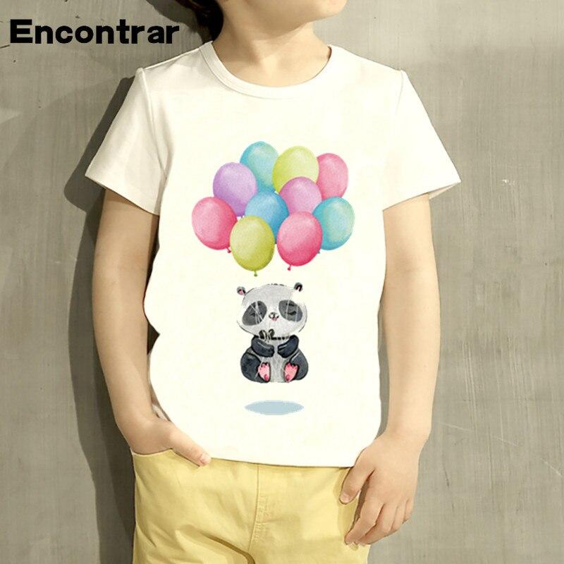 Kids Panda Bear Floating Meditation Design T Shirt Boys/girls Great Casual Short Sleeve Tops Children T-shirt,hkp2104 With Traditional Methods Lights & Lighting