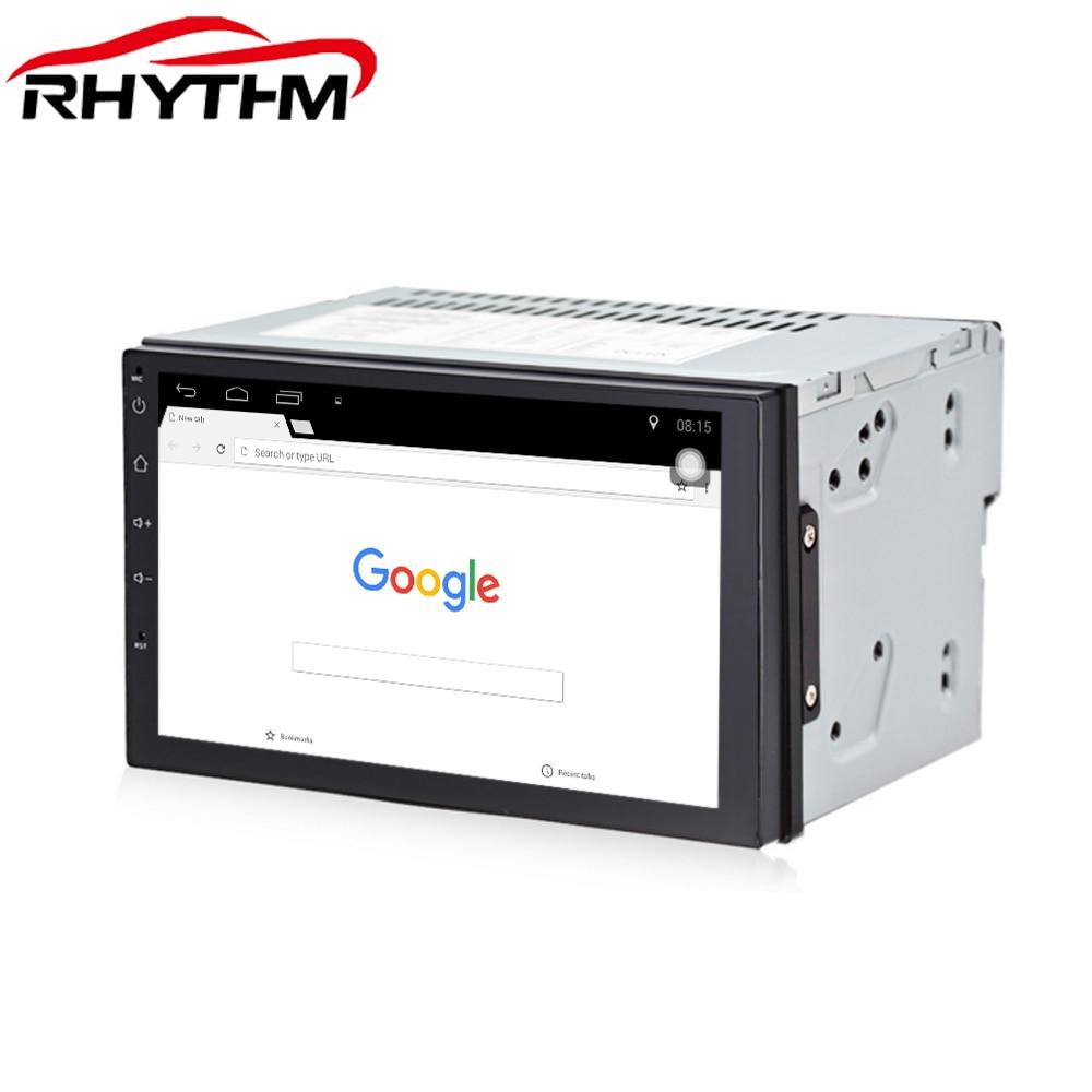 Rythme Quad Core 7 2 Din Android 7.1.1 Voiture DVD Radio Lecteur Multimédia de Navigation GPS pour bmw e46 ford focus 2 bmw e39 passat