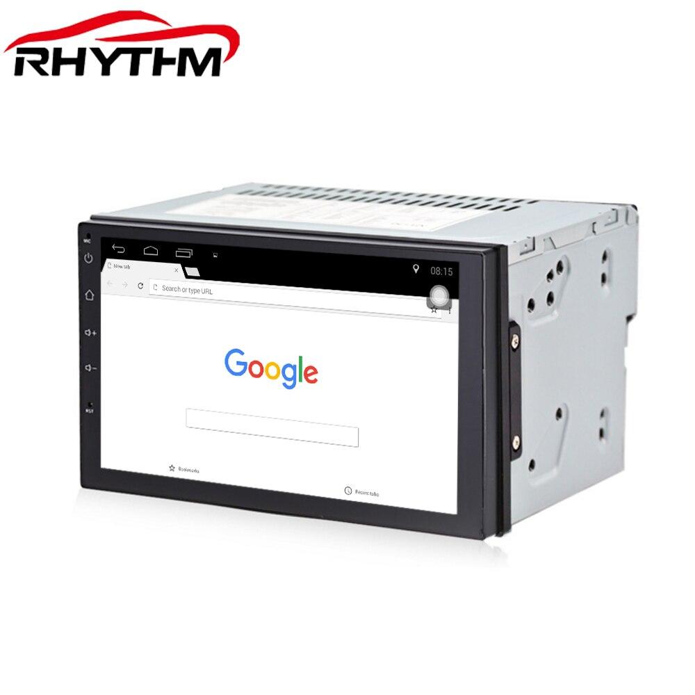 Rythme Quad Core 7 2 Din Android 7.1.1 Voiture Radio DVD Lecteur Multimédia GPS Navigation pour bmw e46 ford focus 2 bmw e39 passat