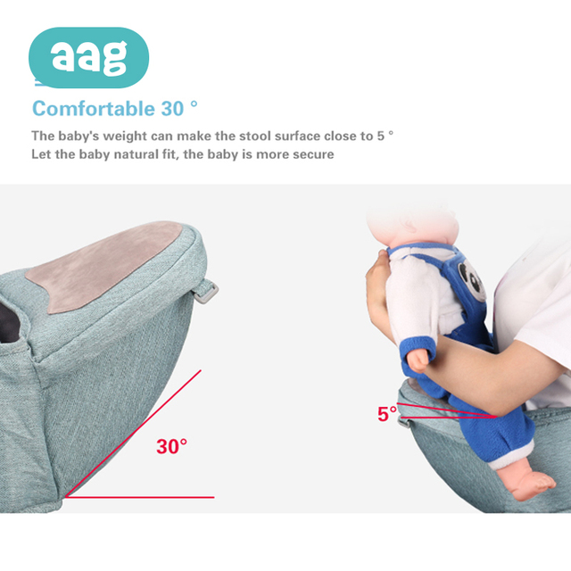 AAG Baby Carrier Waist Stool Sling Newborn Baby Non-slip Hipseat Carrier Infant Kids Solid Color Waist Belt Kangaroo Hipseat