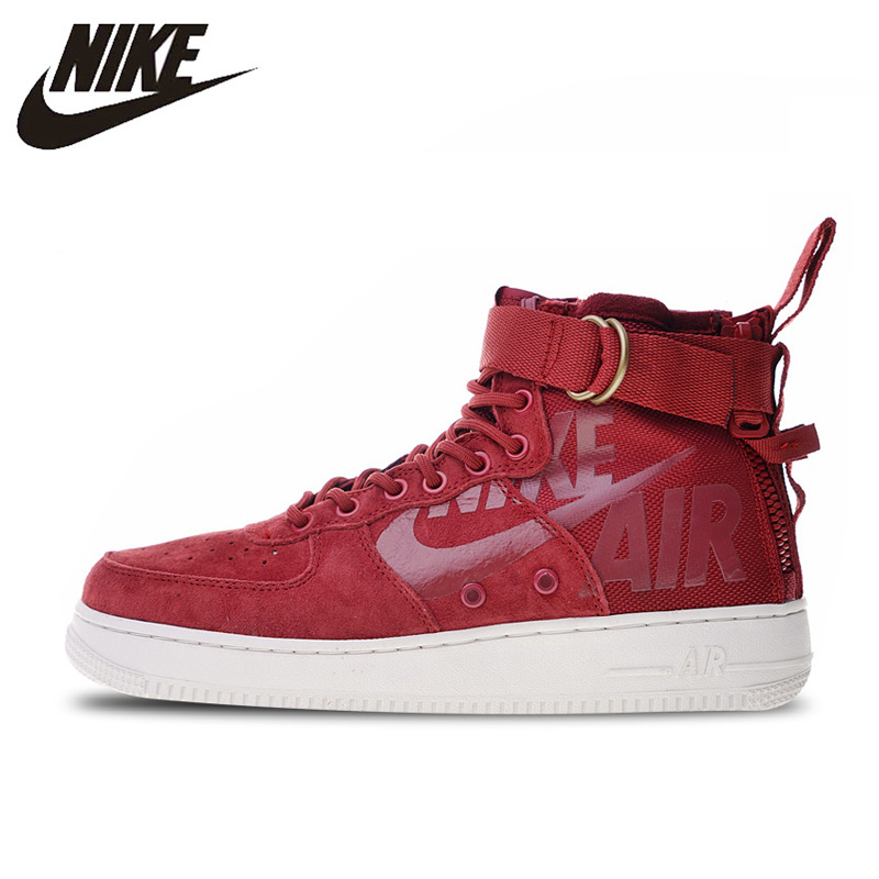 US $84.66 49% OFF|Nike SF Air Force 1 Utility Mid Skateboarding Shoes Sneakers Sports for Men 917753 100 40 45 in Skateboarding from Sports &