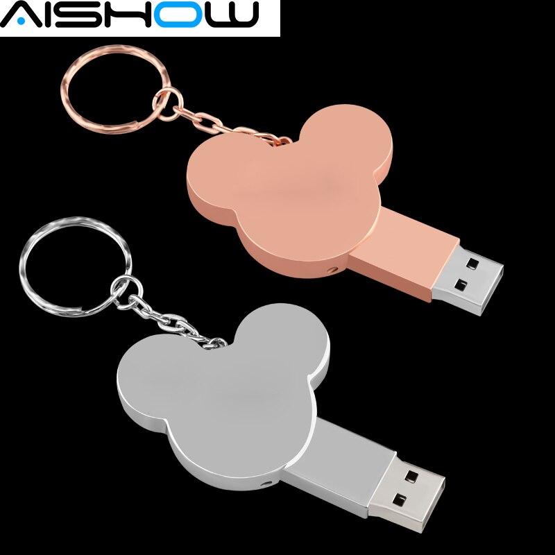 Fashion USB Flash Drive pen drive 4GB 8GB 16GB 32GB 64GB memory Disk mini Gift metal pendrive u disk lovely hot sale