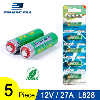 цена на 5PCS 50mAh Alkaline Dry Battery 12V 27A 27AE 27MN A2 L828 Small Batteries for Toys, Doorbell, Car alarm, Car Remote Control etc