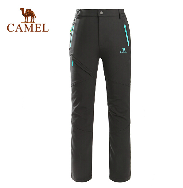 2015 New Women's Outdoor Trousers camel female models autumn and winter outdoor warm soft shell pants female A5W118104 stoosh new turquoise juniors geo print soft pants s $39 dbfl
