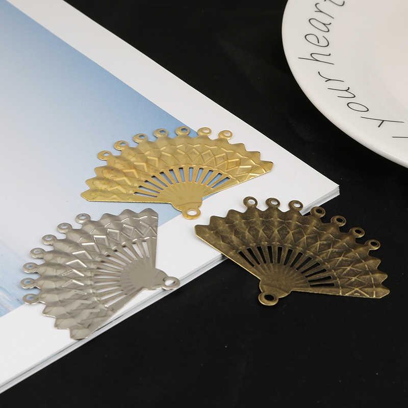 Moda 10 pçs/lote Ouro/Prata/bronze Metal Cor Artesanato Conector Para Descobertas Jóias DIY Acessórios Pingente Charme