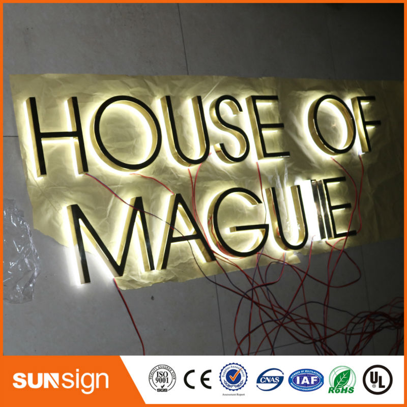Stainless Steel Reverse Lit Channel Letters