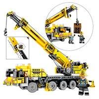 Newest Technic Blocks Engineering Lifting Crane Building Blocks Compatible Legoingly Construction Bricks Toys For children Gift