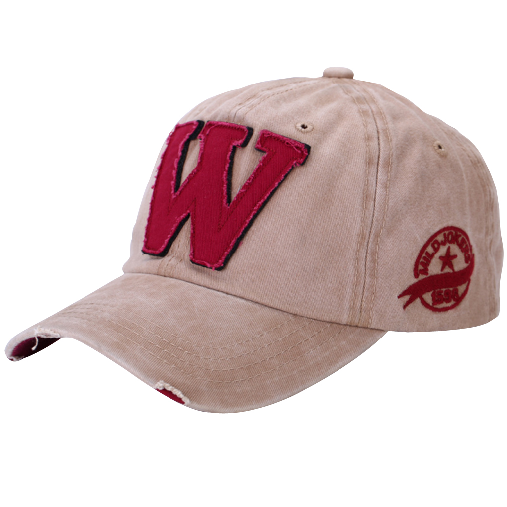 Letter W Pattern Baseball Caps Hip Hop Sun Hats For Men/Women Denim Blue new 2017 hats for women mix color cotton unisex men winter women fashion hip hop knitted warm hat female beanies cap6a03