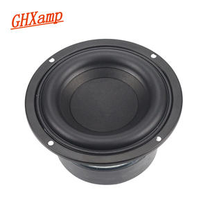 GHXAMP Subwoofer Speaker BASS 2-Crossover Home Theater 4inch Round High-Power 1PC 40W