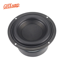 GHXAMP 4 インチ 40 ワットラウンドサブウーファースピーカーハイパワー低音ホームシアター 2.1 サブウーファーユニット 2 クロスオーバー Louspeakers DIY 1PC