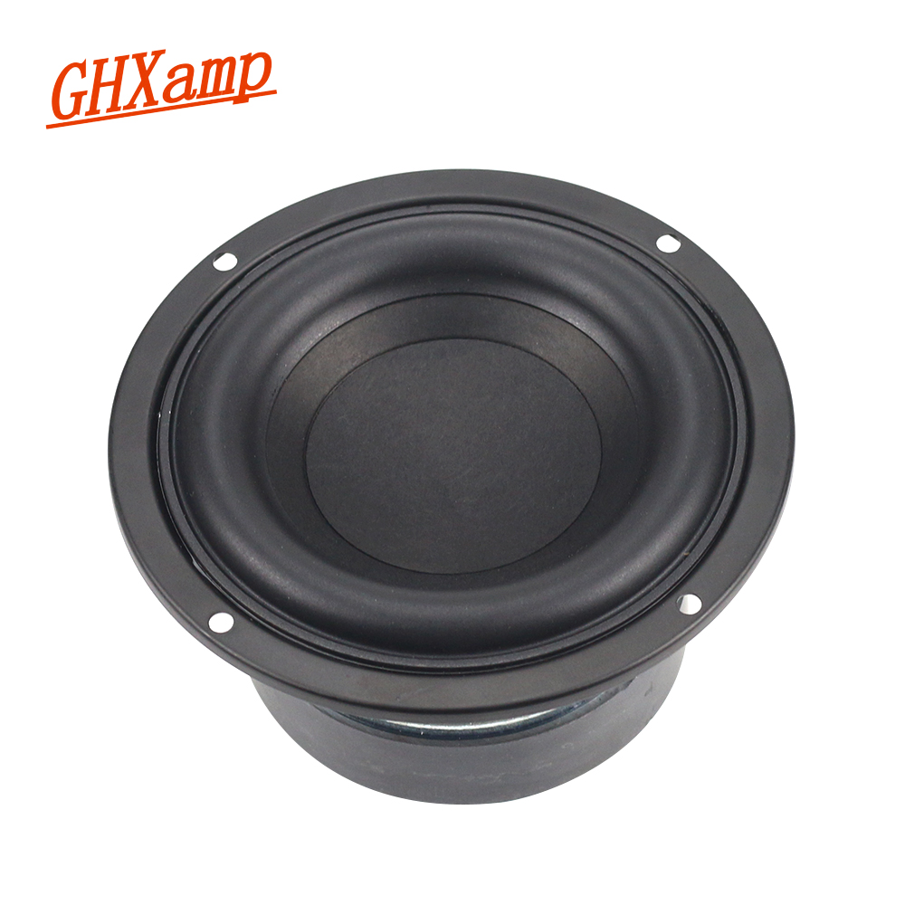 GHXAMP 4 inch 40W Round Subwoofer Speaker Woofer High power BASS Home Theater 2.1 Subwoofer Unit 2 Crossover Louspeakers DIY 1PC