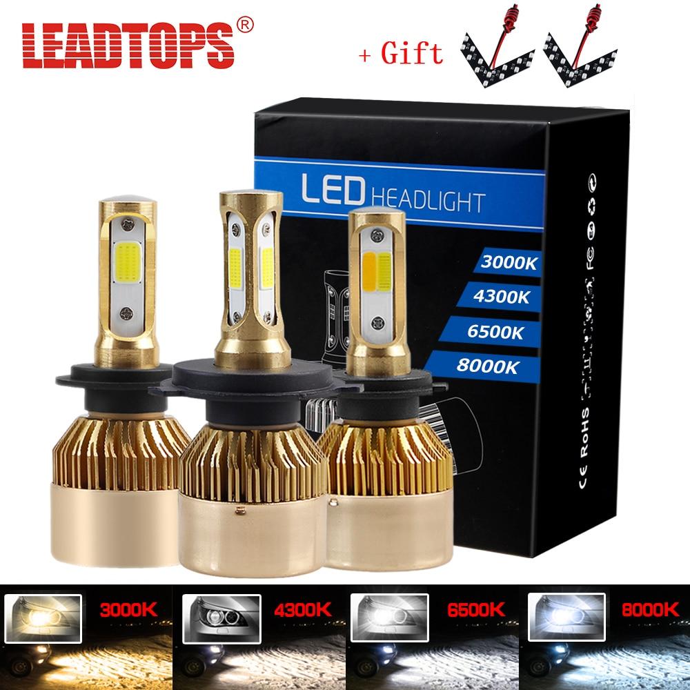 LEADTOPS 8000 K H4 LED Schalteten Scheinwerfern 6000 K 4300 K 3000 K Auto Scheinwerfer H1 H3 H7 H8 H9 H11 880 881 H27 9004 9905 9006 12 V Wasserdichte WERDEN