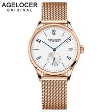 AGELOCER Switzerland Luxury Brand Watches Women Waterproof Stainless Steel Automatic Watch Ladies Sapphires Lens Bracelet Watch