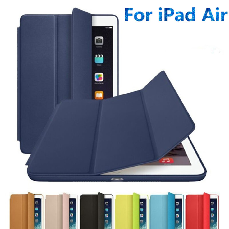 все цены на Ultra thin Leather Smart Cover with Stand case for Apple ipad air 1 9.7