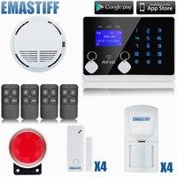 DIY Wireless& Wired GSM Home Security Burglar Alarm System Kit With SOS Intercom gsm alarm system