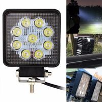2X 27W 4 Inch LED Work Light Flood Driving Lamp For Car Truck Trailer SUV Offroads