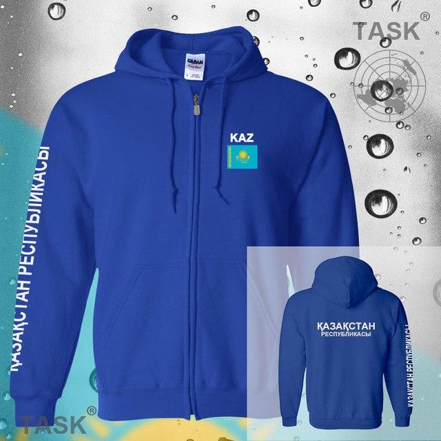 Kazakhstan KAZKazakhstani mens hoodies and sweatshirt jerseys polo sweat suit streetwear tracksuit nations fleece zipper flags