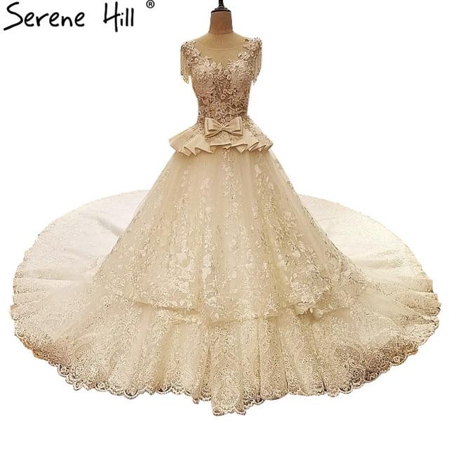 Sleeveless Sexy Spitze Designer Brautkleider Luxus Prinzessin