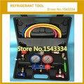 R22,R410a,R134a,R407C refrigerant manifold gauge set