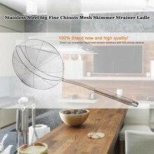 TTLIFE 2016 Práctica Nueva Malla del filtro Colador de Acero Inoxidable Herramientas de Cocina Accesorios de Cocina de Sopa Cuchara Colador Skimmer