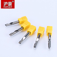 HUHAO 1PC 6mm one Flute Spiral Cutter router bit CNC end mill For MDF carbide milling cutter tugster steel router bits for wood