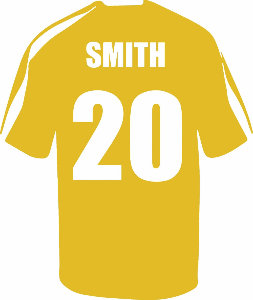 Name Personalized Football Soccer Shirt Wall Art Children Kids ...