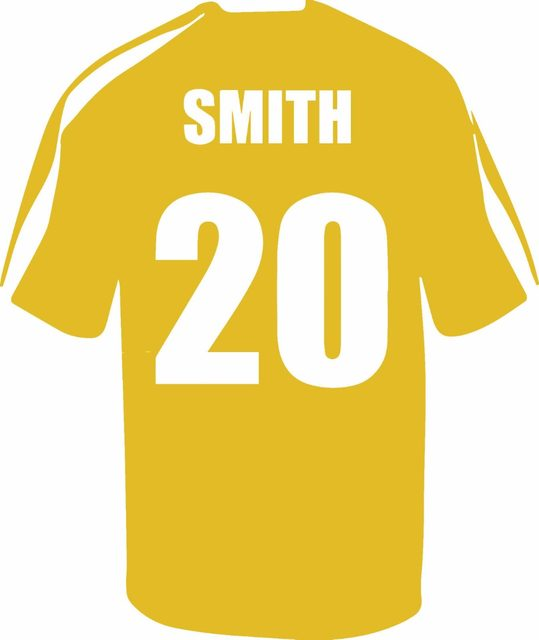 Online Shop Name Personalized Football Soccer Shirt Wall Art ...
