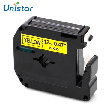 Unistar MK 231 compatible Brother M tapes label cartridge M-K231 for Brother P-touch Tape 12mm M 231 Printer Ribbons