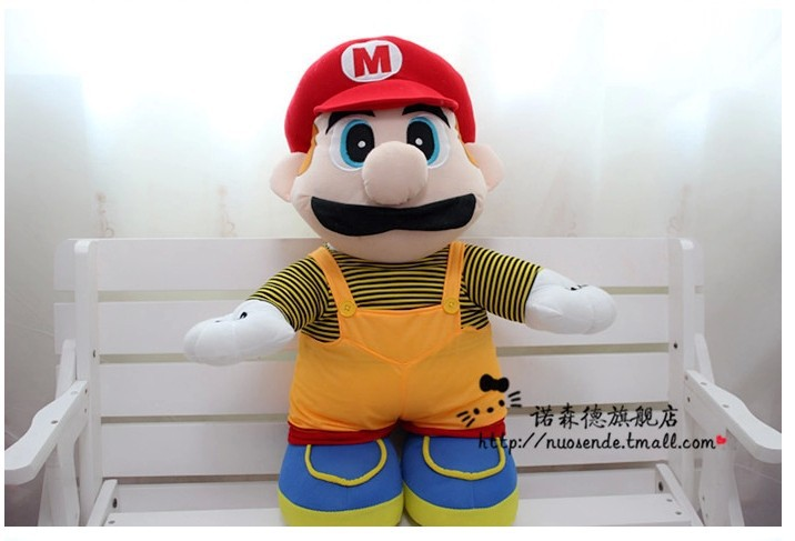 Movies TV plush toy 100cm Super Mario with red hat plush doll gift s9871