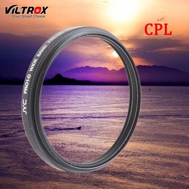 ff85272b4e894b Viltrox CPL Filtre Polarisant Circulaire Objectif de la Caméra Optique En Verre  pour Canon Nikon Sony