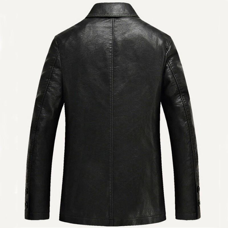 98585f3bc Fashion Men Leather Jackets Autumn & Spring PU Leather Clothes Soft  Sheepskin Business Casual Coats For Men Male Biker Jackets-in Faux Leather  Coats ...