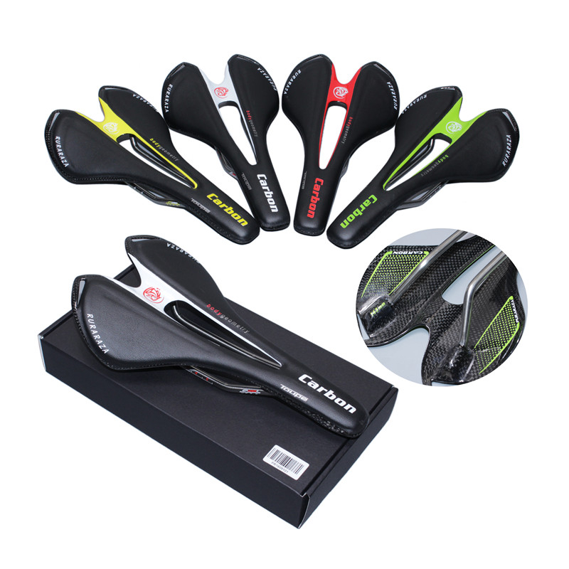 Full carbon saddle + Leather white red black carbon saddle Cycling mountain bike road bike seat cushion carbon bows and boxes new arrival carbon saddle bicycle bike saddle seat road bike saddle sillin bicicleta sillin carbono sella carbonio