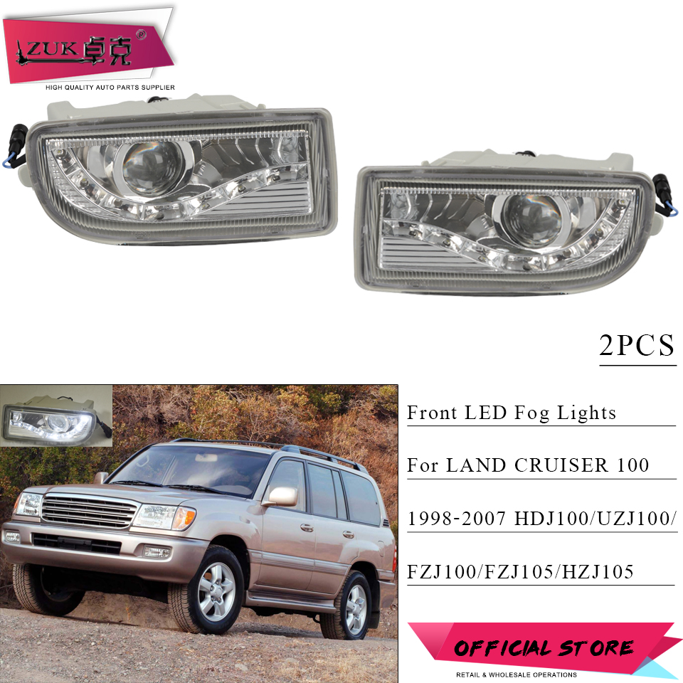 ZUK 2PCS Front Bumper LED Fog Light Driving Lamp Foglights For TOYOTA LAND CRUISER 100 1998