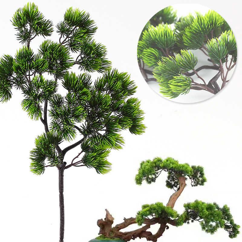 Ramas de pino, ramas de plástico Artificial, Pinaster Cypress, decoraciones de Navidad, arreglo de flores, hojas, guirnalda de hojas