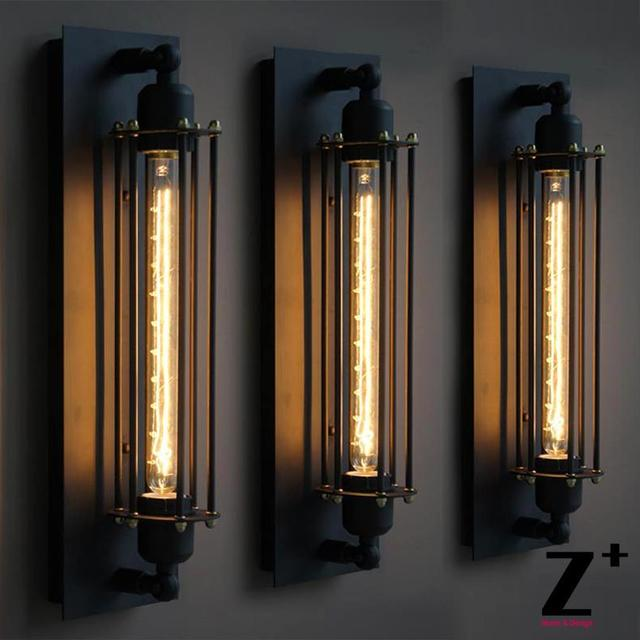 Replica Item American Style Grand Edison Caged Sconce Vintage Bulb Wall Lamp E27 Free