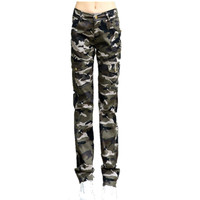 Women Military Cotton Multi Pocket Cargo Pants Ladies Casual Straight Trousers Army Green Camouflage Pants With