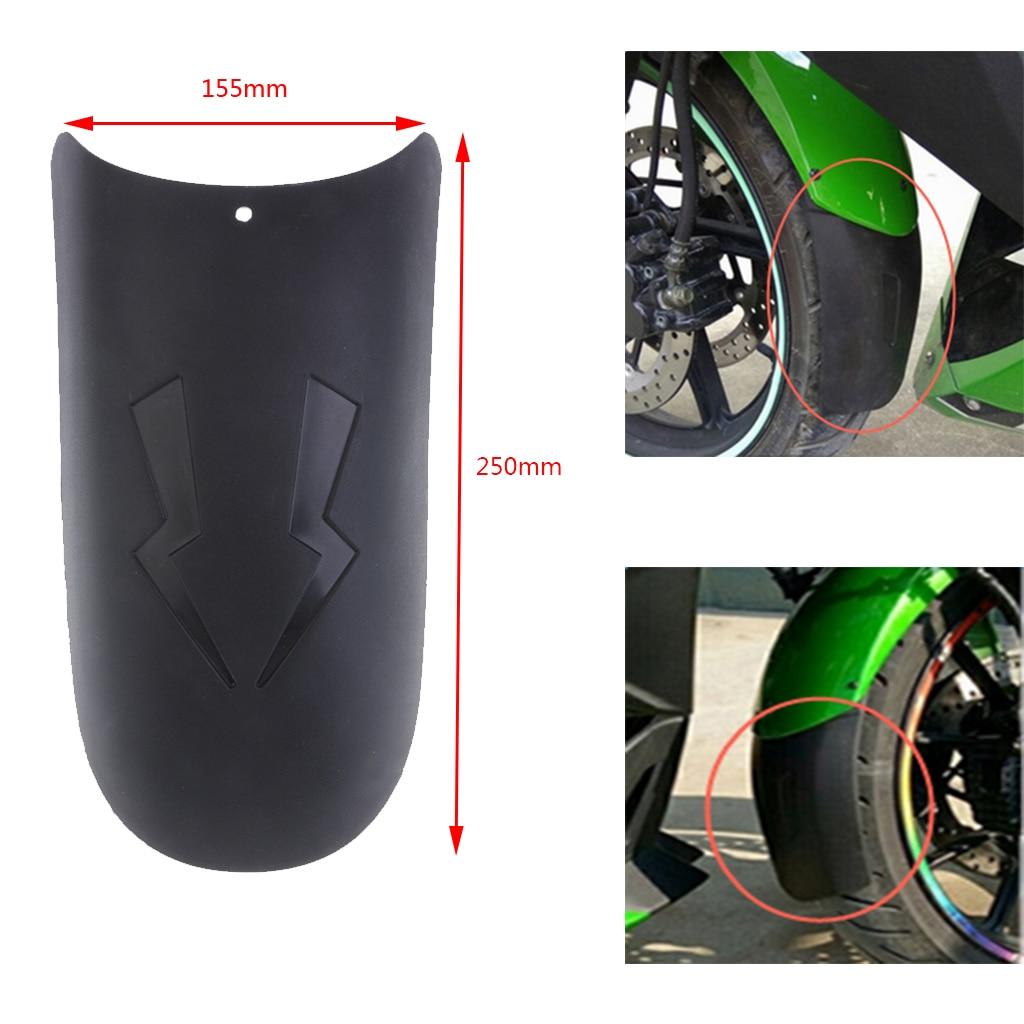 1 Pcs Black Motorcycle Front Mudguard Extender Fender Splash Extension Pad For Ducati KTM Kawasaki Honda   BMW Parts