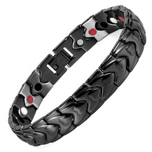 Jewelry Black Heart-shaped Health Care Hand Decorative Magnet Men's Bracelet Cross-border E-commerce Couple A Generation cross border e commerce supply of interest toys