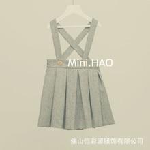 Brand Baby Girl Slip Dress woolen Braces Dress Children Casual Vest england Dress Kids Fashion Clothing Spring Winter Wear