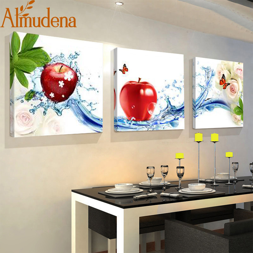 Almudena 3 panel unframed kitchen wall art posters fashion home decoration modular picture - Poster per cucina ...