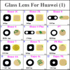 12 models For Huawei Honor 3C 3X 8 6 6Plus P7 7 7i P8 Max 4A Enjoy 4X 5X Back Rear Camera Glass Lens with Adheisve Sticker 1pcs
