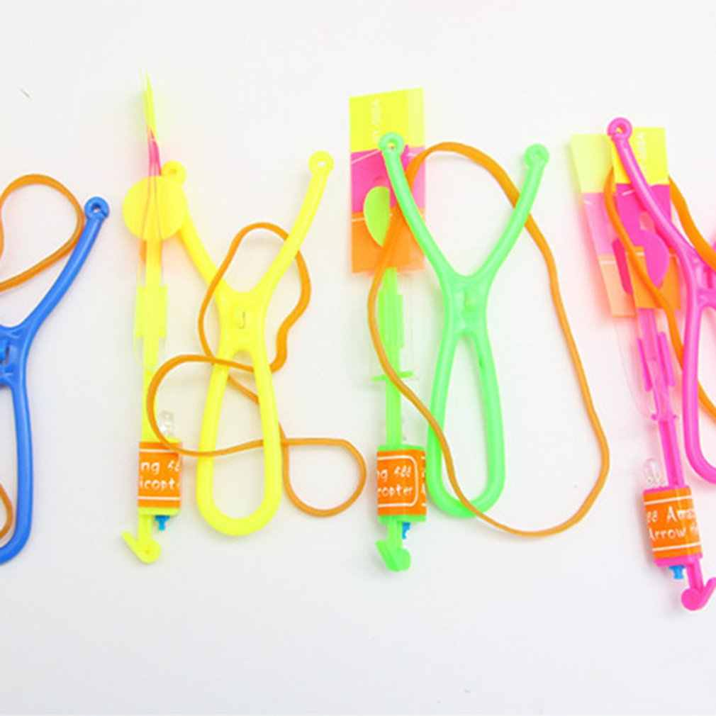 Luminous Slingshot LED Light Catapult Arrows Flying Toys Children Kids Non-toxic Early Educational Toy