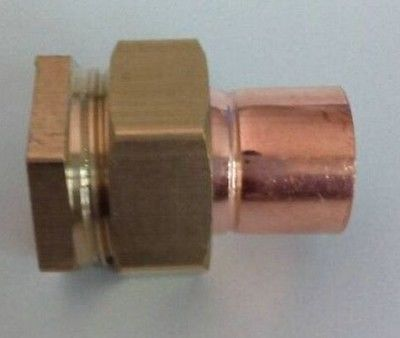 1-1/4 BSP x 35mm Brass Female Thread Socket Union to Copper End Feed Pipe Fitting for water gas oil 80x2mm copper end feed euqal tee 3 way pipe fitting plumbing for gas water oil