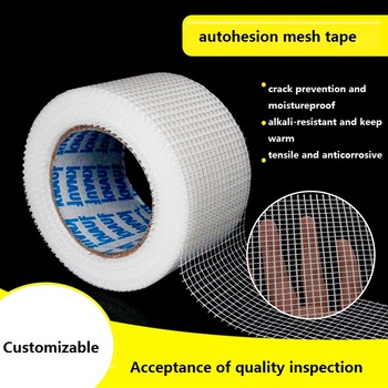 Tela de malla autoadhesiva 5cm 8cm 10cm de ancho herramientas de mosaico de fibra de vidrio blanco rejilla Junta resistente a grietas fibra de vidrio bricolaje